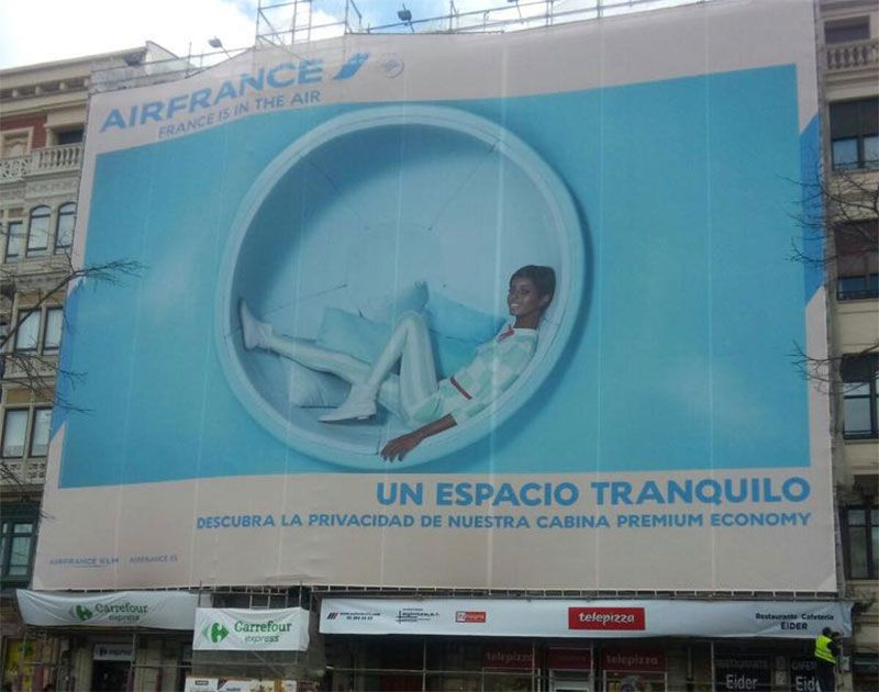 lona publicitaria Air France